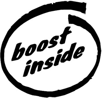 'Boost Inside lettering vinyl sticker. Personalize on line. 0094_Boost_Inside