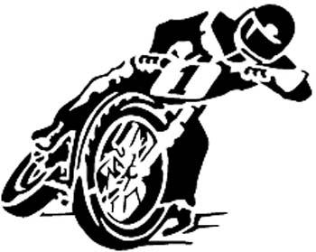 Motorcycle Racing vinyl sticker customized online.  1008.