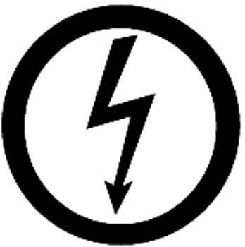 Lightning bolt in a circle vinyl decal. Personalize on line.  1024.