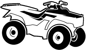 ATV vinyl sticker customized online. ATV2