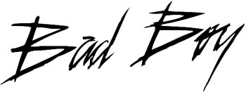 Japanese lettering 'Bad' vinyl decal. Customize on line. Badboy