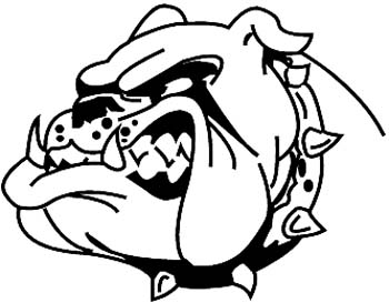 Bull Dawg vinyl sticker customized online.  BullDawg