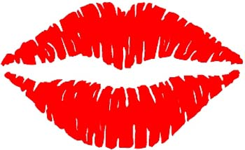 Luscious Lips vinyl decal customized online