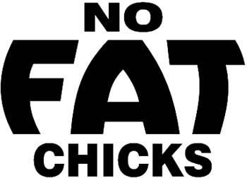 No Fat Chics vinyl decal customized online