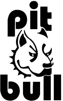 Pit bull dog head and lettering vinyl decal. Customize on line.