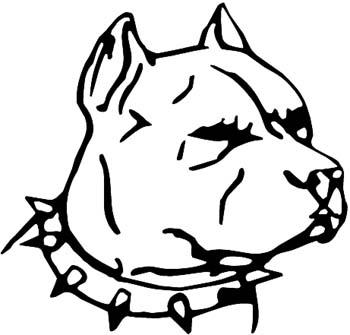 Pit bull dawg head vinyl decal customized online.  Pitbull3