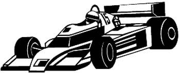 Indy Race-car vinyl decal customized online.  Racecar1