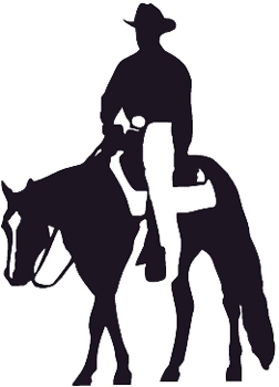 Cowboy on horse Decal Customized Online. 0024