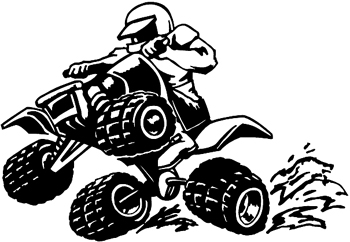 4 wheeler going through mud decal Customized Online.  0072