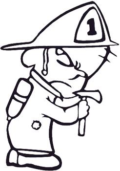 Baby Firefigher in Gear decal Customized Online. 0121