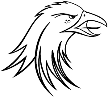Bald Eagle head decal Customized Online. 0146