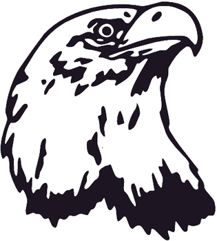 Eagle Head mascot vinyl decal Customized Online. 0153