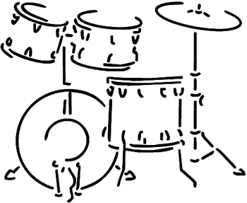 Drum Set decal Customized Online. 0155
