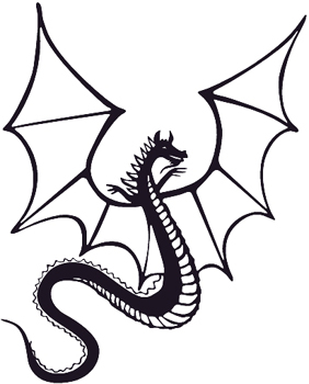 Dragon Flying decal Customized Online. 0159