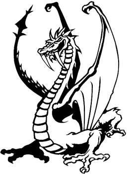 Dragon decal Customized Online.  0160