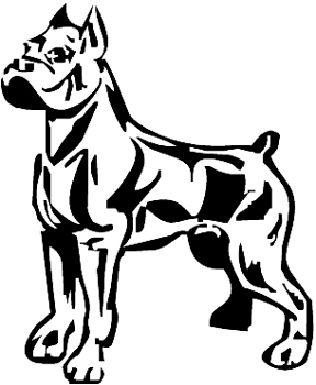 Boxer Dog vinyl decal Customized Online. 0165