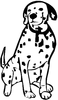Dalmation dog decal Customized Online. 0166