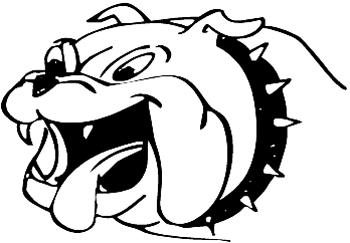 English Bulldog with tongue hanging out vinyl decal. Customized Online. 0168