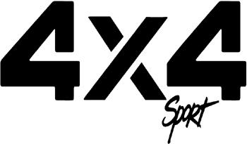 '4x4 sport' Decal Customized Online. 0324
