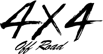4x4 off road lettering Decal Customized Online. 0327