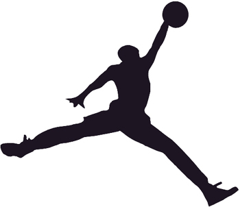 AIR - Basketball silhouette vinyl decal. Customized ONLINE. 0638
