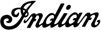 'Indian' Lettering Vinyl Decal Customized Online. 1014
