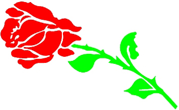 Red Rose flower 4  Decal Customized Online. 1131
