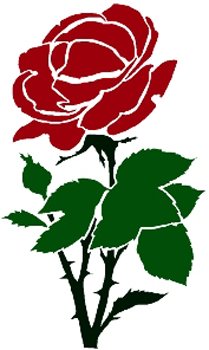 Lone Rose Decal Customized Online. 1132