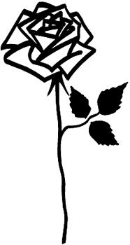 Rose vinyl decal Customized Online. 1133