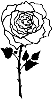 Rose flower Decal Customized Online. 1134