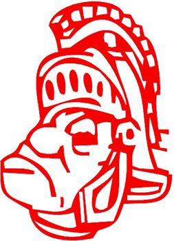 School Mascot Warrior Trojan Decal Customized Online. 1148
