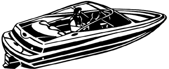 Motor Boat Decal Customized Online. 1149