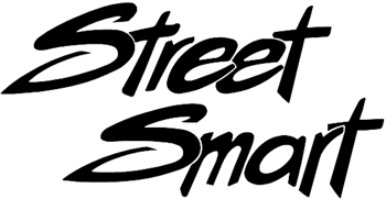 Street Smart lettering Decal Customized Online. 1157