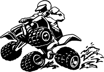4x4 ATV  Decal Customized Online. 1322