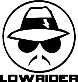 Low rider lettering plus face Decal Customized Online. 1611