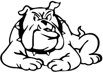 Bulldog vinyl sticker. Customize on line. 2709