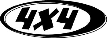 4x4 logo Decal Customized Online. 3097
