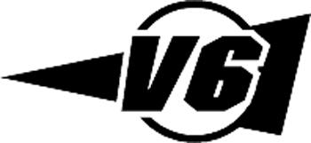 V6 lettering vinyl decal. Customized Online. 3217