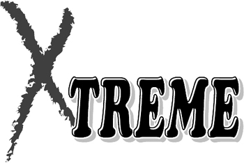 'Xtreme' lettering graphic decal.  Customized Online. 3223