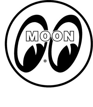 Moon Eyes vinyl sticker. Customize on line. 3231