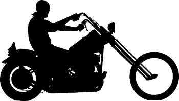 Chopper rider silhouette vinyl sticker. Customize on line. 3341