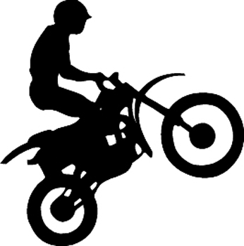 Motocross motorcycle rider silhouette graphic Decal Customized Online. 3349