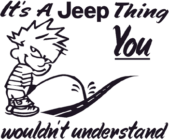 Calvin peeing w/Its a Jeep Thing