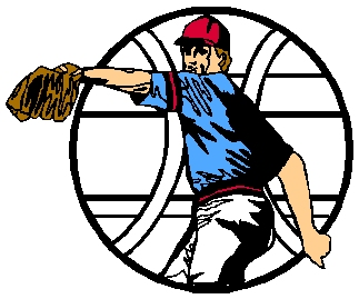 Baseball pitcher action color sports decal. Personalize as you order. 1A10 - baseball decal