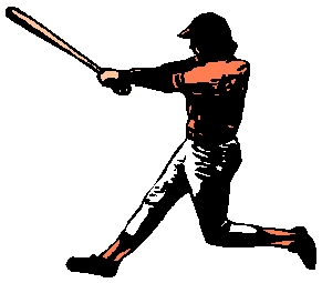 Baseball player action sports sticker. Customize on line. 1A16 - baseball decal