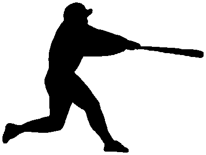 Baseball batter sports sticker. Customize on line as you order. 1A18 - baseball sticker decal