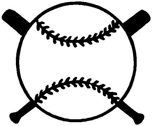 Baseball in front of crossed bats sports decal. Personalize on line. 1A2- baseball with bats decal