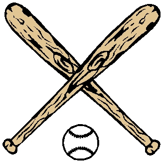Baseball and bats action sports decal. Customize on line. 1A3- bats and ball decal