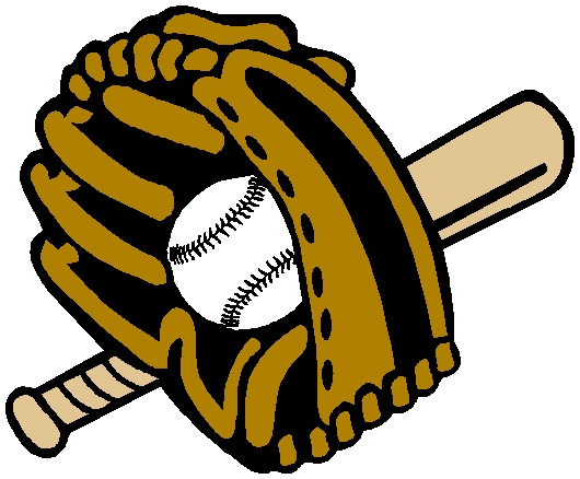 Baseball gear color sports sticker. Customize as you order. 1A4 - ball glove and bat decal