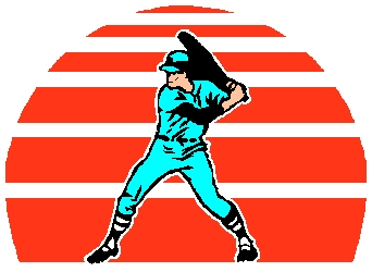 Baseball batter full color action sports sticker. Customize as you order. 1A5 - baseball decal